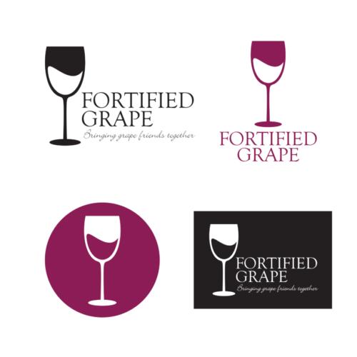 Fortified Grape Logo Designs by McCalden Deisgns