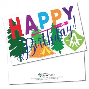 Camper Birthday Card