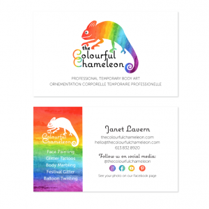 The Colourful Chameleon Business Card
