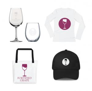 Fortified Grape Logo Mockups by McCalden Designs