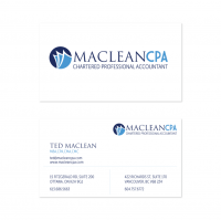 Maclean CPA Business Cards